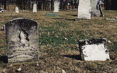 Barbara Coon tombstone [assumed] in proximity to Conrad S. Coon's tombstone, Harlan Cemetery, Brown township, Hancock county, Indiana; photographed by 15 March 2000).